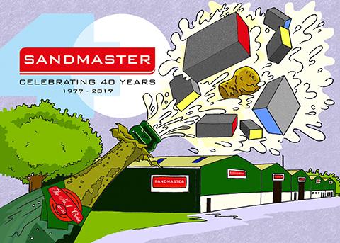 Sandmaster image 40th with text 7 3 17b no print